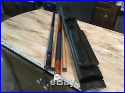 2 Pool Cues, Rare McDermott and Spaulding With Hard Carrying Case