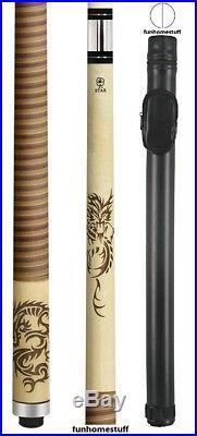 3d Dragon Mcdermott Star S64 Billiard Two Piece Pool Cue Stick + Hard Tube Case