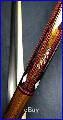 Absolutely gorgeous Jacoby custom 1/1 pool cue 18.50oz 2 ld shafts