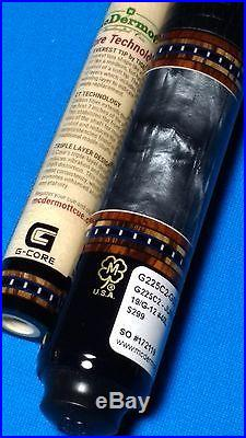 Brand New McDermott Custom Pool Cue G225C2 Gcore shaft/Leather 19oz, 12.00mm