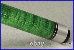 Hustler Mcdermott Star S68 Green Billiard Two Piece Pool Cue Stick + Soft Case