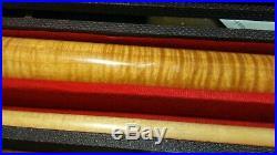 Joe Johon Solid Flamed Maple Custom Made Break And Pool Billiard Cue Stick