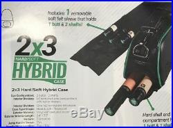 MCDERMOTT 2x3 HYBRID POOL CUE CASE 75-0924 BRAND NEW FREE SHIPPING FREE CHALK