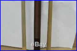 McDermott Dark Brown Wood Pool Cue Small White Logo with 2 Shafts