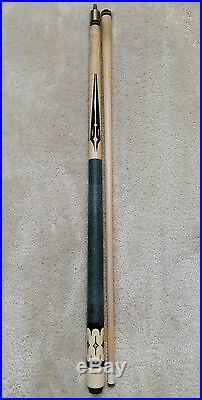 McDermott EK4 Pool Cue, New Tip, Intricate Floating Points, Vintage EK-Series
