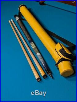 McDermott Eagle pool cue 2 shafts with case