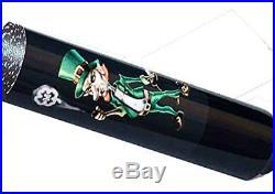 McDermott Lucky L65 Leprechaun Grapic Green Yellow on Black Pool/Billiard Cue