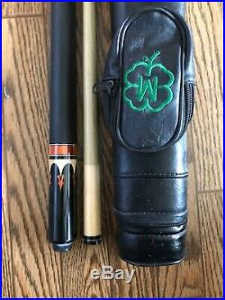 McDermott M704 Retired 2 Piece Pool Cue leather wrap Joe Porper Hard Case M7-04