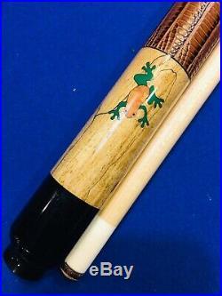 McDermott M85B Spalted Dart Frog (Rare Orange Legs) Custom Pool cue