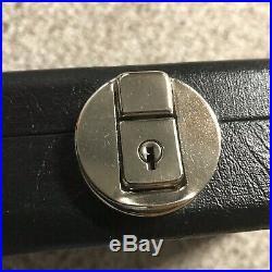 McDermott Pool Cue 4 Butt Four Shaft Locking Salesman Travel Billiard Case Keys