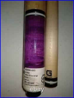 McDermott Pool Cue G230A-G03 Purple G-Core 19G-13 no wrap