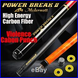 McDermott Punch & Jump Billiard Cue 13mm G10 Tip Carbon Fiber Technology Shaft
