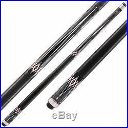 McDermott Star Pool Cue Stick S13 Black Grey 18 19 20 21 oz FREE SOFT CASE