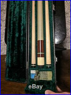 Mcdermott D-13 1984 Rare Collectible Pool Cue 58 with Case and Accessories