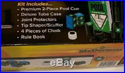 Mcdermott Kit2 Pro Pool Cue Kit 2 Pc Cue Case Chalk & Bonus Plus Ships Free
