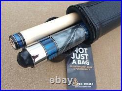 NEW McDermott Star Series SP3 Pool Cue, Blue & Grey Pearl Inlays, Everest Tip