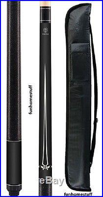 New MCDERMOTT Lucky L16 BLACK Two-piece Billiard Pool Cue Stick & FREE Soft Case