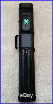 New McDermott Clover Logo 2x4 Hard Pool Cue Case, IN STOCK READY TO SHIP TODAY