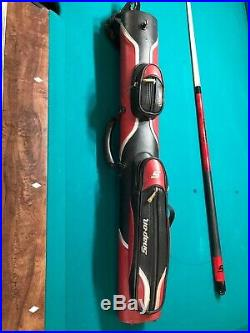 New Mcdermott Snap-on pool cue and used matching case 19 oz 13mm tip