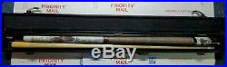 RARE, Vintage McDermott 19oz. Pool Cue Bald Eagle & Fish Painting with Case