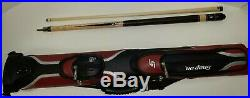 Snap-On Commemorative McDermott Pool Cue With G-core Shaft With Leather Case