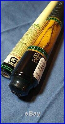 Stunning McDermott Custom G225C3-1 Pool Cue Bacote leather wrap 19oz 12.75mm
