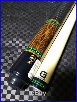 Super Sharp McDermott custom pool cue Bacote leather wrap gcore shaft 19oz 12.75