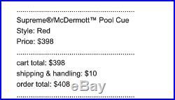 Supreme McDermott Pool Cue Week 12 SS19 (CONFIRMED ORDER)
