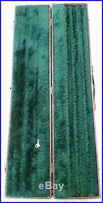 Vintage McDermott 1x2 Flip Top Hard Pool Cue Case With Large Storage Compartment