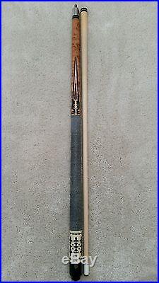Vintage McDermott EK6 Pool Cue Stick, Intricate Floating Points, EK-Series Cue