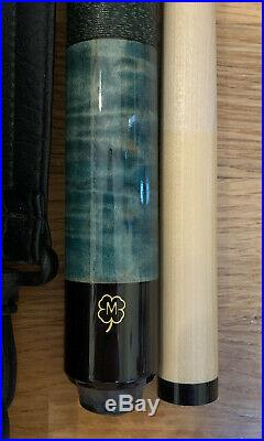 Vintage McDermott Emerald Green Pool Cue Stick And Case 20oz 58-NICE-Ships FAST