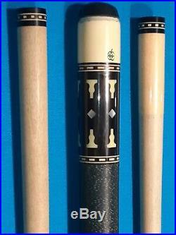 Vintage mcdermott C-16 pool cue, linen wrap, 2 shafts